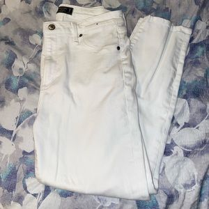 A&F white ankle jeans